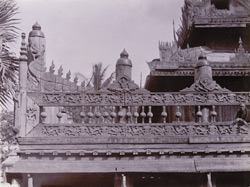 Carving on railing of [Taik Taw] monastery, [Mandalay]